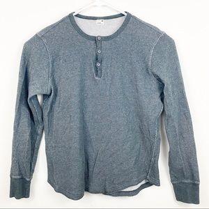 Club Monaco Long Sleeve Henley Shirt Size Medium